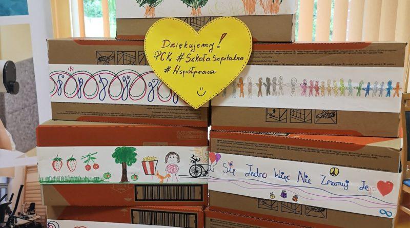 Podziękowania z Wojewódzkiego Specjalistycznego Szpitala Dziecięcego